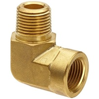 Brass Extended MF Elbow                 0125E-04