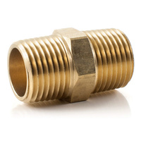 Brass Hex Nipple             0127-08