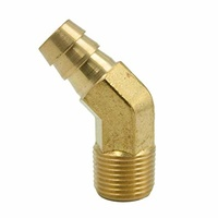 Brass Male Hose Tail 45 Deg Elbow