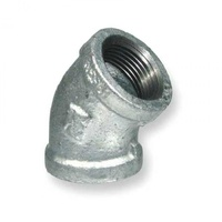 60GM3445-64         Galvanised 45 degree Female Elbow