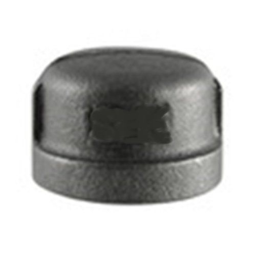 Black Steel Round Cap
